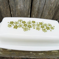 Vintage Pyrex Crazy Daisy Butter Dish /Retro Kitchen Ware