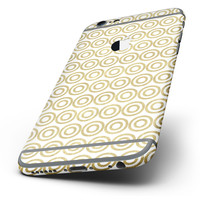 The White and Gold Foil v7 Six-Piece Skin Kit for the iPhone 6/6s or 6/6s Plus