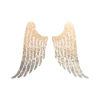 ANGEL GOLD WINGS Art Print by Monika Strigel