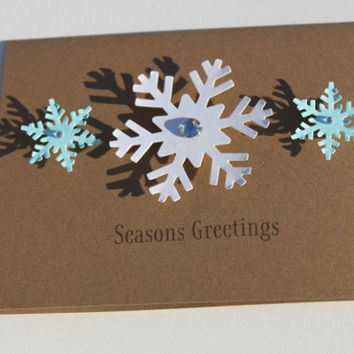 Snowflake Christmas Cards, Set of 50