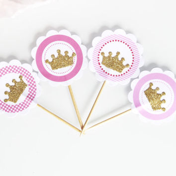 10 toppers prince - Princess - crowned and customization