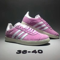 """Adidas Gazelle"" Women Sport Casual Retro Stripe Sneakers Plate Shoes"