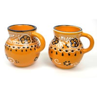 Pair of Beaker Cups - Mango Pottery from Mexico