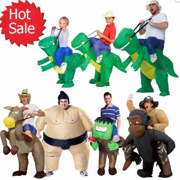 ONETOW Halloween inflatable child adult costume kids party dinosaur unicorn women halloween costume for kids