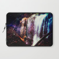 Waterfall Stars and Space Laptop Sleeve by minx267