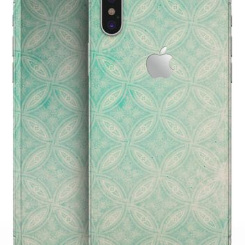 Faded Teal Overlapping Circles - iPhone X Skin-Kit