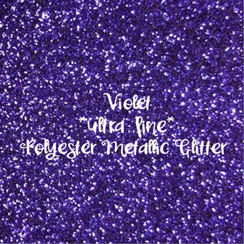 VIOLET PURPLE - GLITTER - Polyester Metallic - 1oz - 2oz - 4oz - 8oz - craft supply - sparkles - bling - crafts - nail art - nail polish