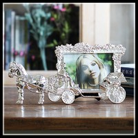 Classic  Horse Carriage  Photo Frames for Picture European Foto Frame Table Decor Christmas Gifts ElimElim
