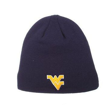 Licensed West Virginia Mountaineers NCAA Edge Adjustable Beanie Knit Sock Hat Zephyr KO_19_1