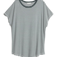 Top with Cap Sleeves - from H&M