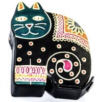 Leather Cat Toy Coin Bank
