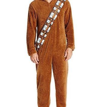 2017 Unisex Adult Star Wars 7 Series Cosplay I Am Chewie Chewbacca Furry Suit Costume Pajamas Jumpsuit Hoodies Cosplay Pajamas