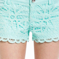 Lace Crochet Shorts $52