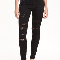 Mid-Rise Raw-Edge Rockstar Jeans for Women | Old Navy