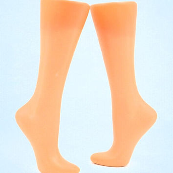 Free Standing Store Display,  Calf and Foot For socks Mannequin for knitted socks photo for advertising Stocking display Sock blocker