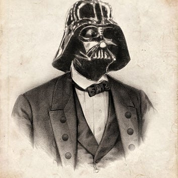 Vintage Victoria Star Wars Portrait Limited Edition Art Prints (Single print of your choice)