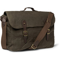 J.Crew - Abingdon Waxed Cotton-Canvas and Leather Messenger Bag | MR PORTER
