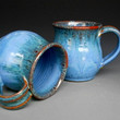 Blue Mug  Ceramic Coffee Mug by darshanpottery on Etsy