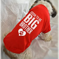 New Baby Dachshund Tank Top. Soon to Be Big Brother Dog Shirt. Small Pet Clothes. Gift Idea for Dachshund Lover Expecting Mother.
