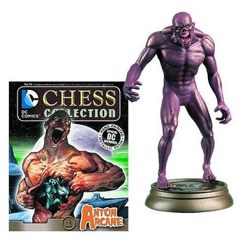 DC Superhero Arcane Black Pawn Chess Piece with Collector Magazine #74