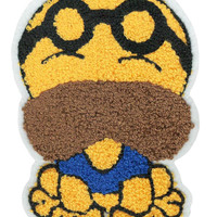 XL Extra Large Cute Chenille Dog Glasses Patch 17cm