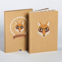 Fox Boxed Blank Notebook