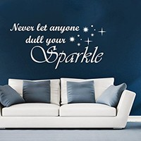 Wall Decals Quotes Vinyl Sticker Decal Quote Never Let Anyone Dull Your Sparkle Home Decor Art Bedroom Design Interior C399