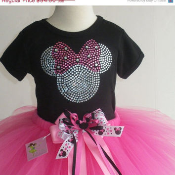 CIJ sale 5T Disney Minnie Mouse costume pink FULL tutu & rhinestone t-shirt dress
