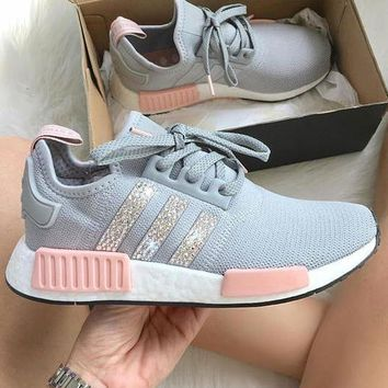 Adidas NMD Sequins Women Trending Running Sports Shoes Sneakers