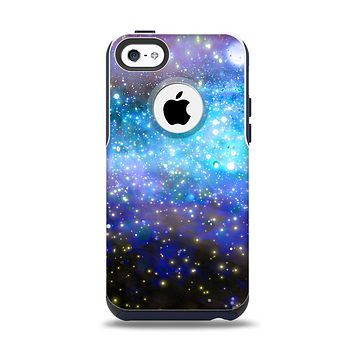 The Glowing Space Texture Apple iPhone 5c Otterbox Commuter Case Skin Set