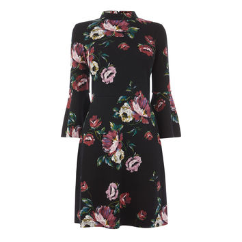 COUNTRY ROSE PONTE DRESS