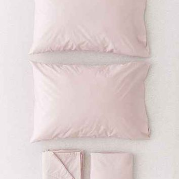 Solid Percale Cotton Sheet Set - Urban Outfitters