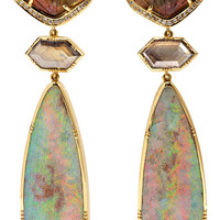 Brooke Gregson - Palamino Flower 18-karat gold multi-stone earrings