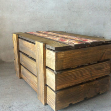 Wooden shoe storage and decorative crate