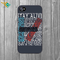Twenty One Pilots | Guns for Hands Lyrics | 21 iPhone 4 4S 5 5S 5C 6 6+ Case | Samsung Galaxy S3 S4 S5 Cover | HTC Cases