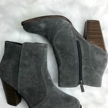 SZ 5.5 Broadway Heather Grey Booties