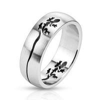 Mystic Gecko - FINAL SALE Cut out double gecko design stainless steel dome ring