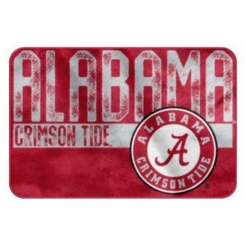 Alabama Crimson Tide Worn Out Bath Mat
