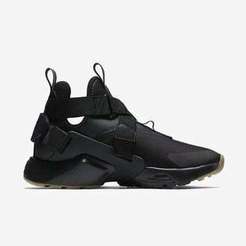 auguau WMNS NIKE AIR HUARACHE CITY - BLACK/DARK GREY/GUM LIGHT BROWN/BLACK