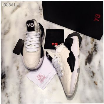 Adidas & Y-3 Introducing Kaiwa Women Casual Shoes Boots  fashionable casual leather Women Heels Sandal Shoes