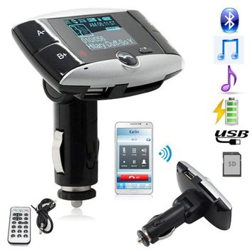 Wireless Bluetooth FM Transmitter Modulator Car Kit MP3 Player SD USB LCD Remote