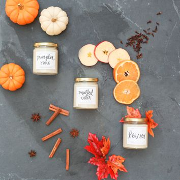 Fall Candle Set of 3