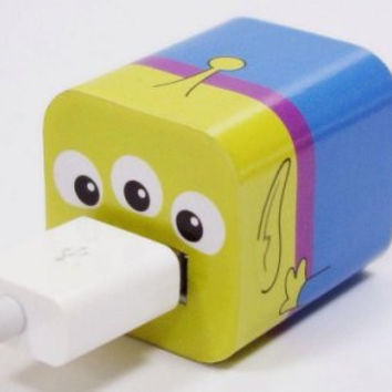 Disney Iphone Charger USB Skin Sticker Wrap -Sticker Only Not Include Charger (Toy Tory Alien)
