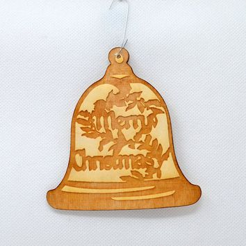 Merry Christmas Bell - Holiday Ornaments