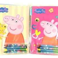 Party Favors Peppa Pig Coloring Book & Crayon Set 12 Pack ( Assorted Style)
