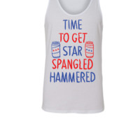 time to get star spangled hammered - Unisex Tank