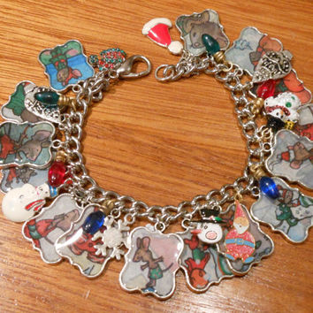 If You Take a Mouse to the Movies Christmas Altered Art Charm Bracelet