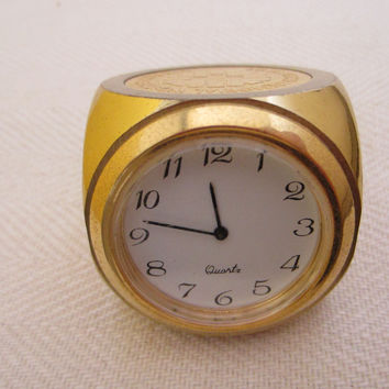 Miniature Brass Dice Clock Novelty Of Long Beach Memorial Women Hospital
