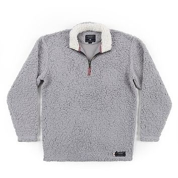 Appalachian Pile Pullover 1/4 Zip in Light Gray by Southern Marsh - FINAL SALE