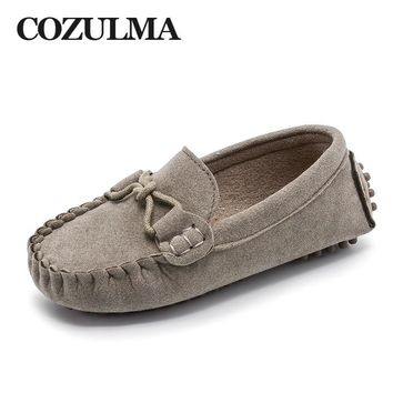 COZULMA Kids Moccasin Shoes Boys Girls Loafers Fashion Sneakers Children Massage Causal Shoes Kids Flat Leather Shoes Size 21-35